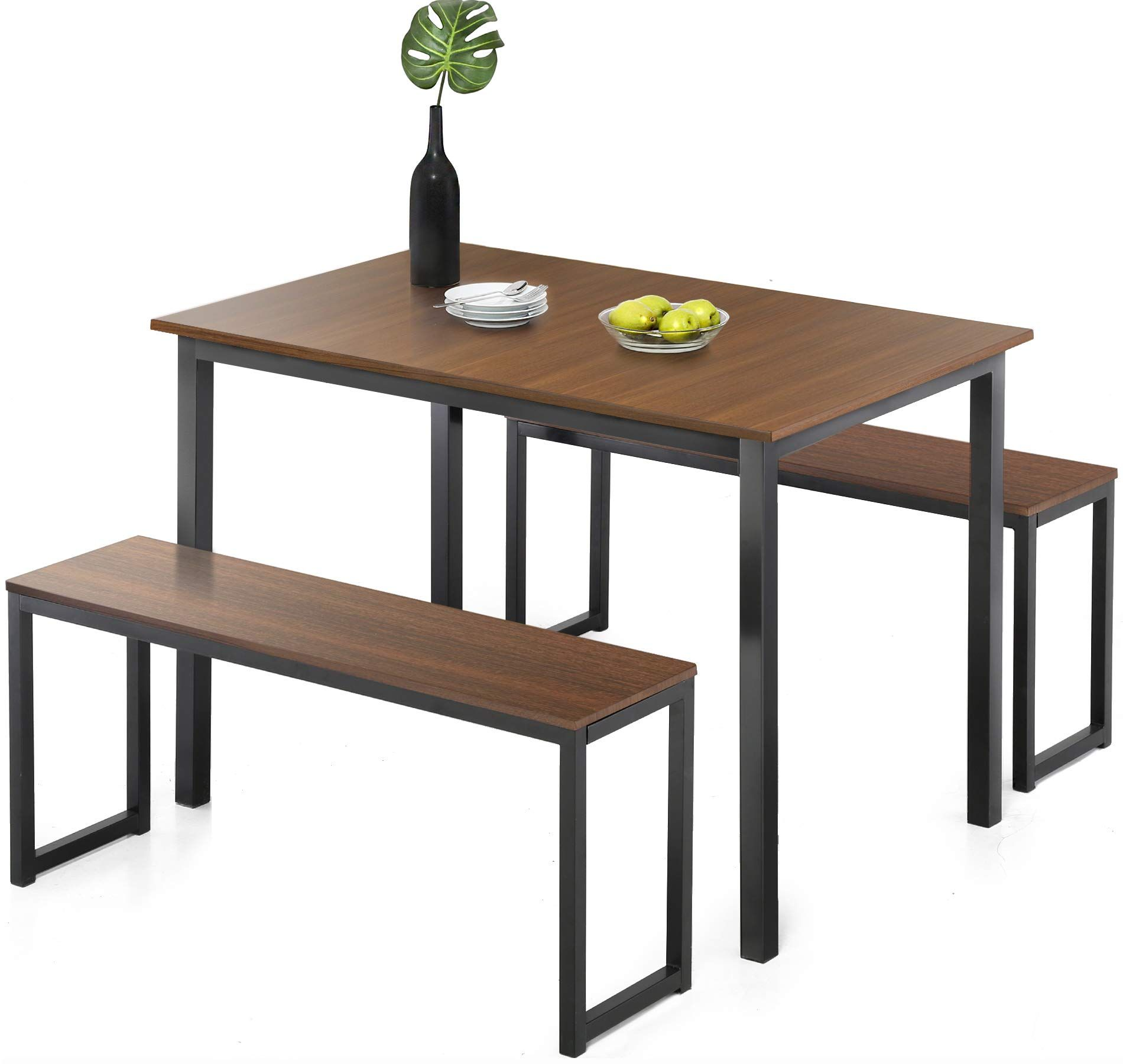 Homury modern studio soho dining table with two benches 3