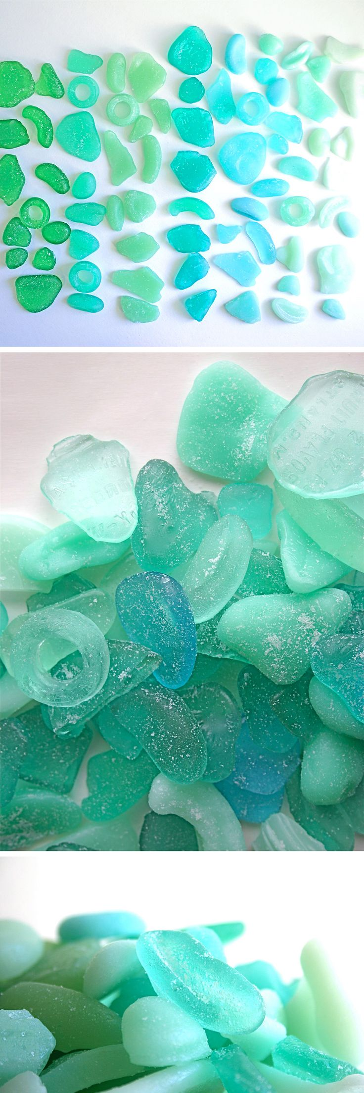 Beach wedding looks  Wedding Cakes Edible Sea Glass Candy Looks Just Like It Washed up on