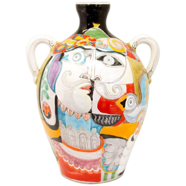 Vintage Italian Vase By Desimone From A Unique Collection Of