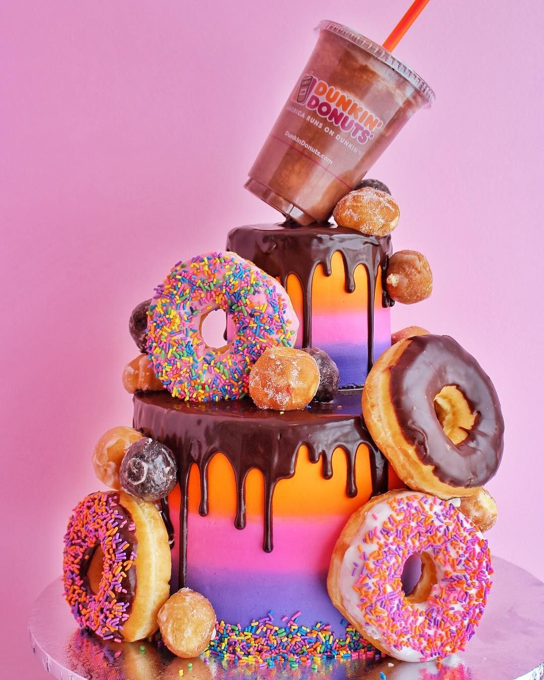 A little throwback to our tiered dunkindonuts in honor of