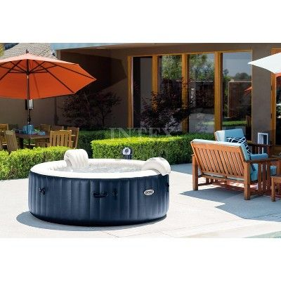 Intex Purespa 28409E 6 Person Inflatable Portable Bubble Jet Hot Tub Massage Set