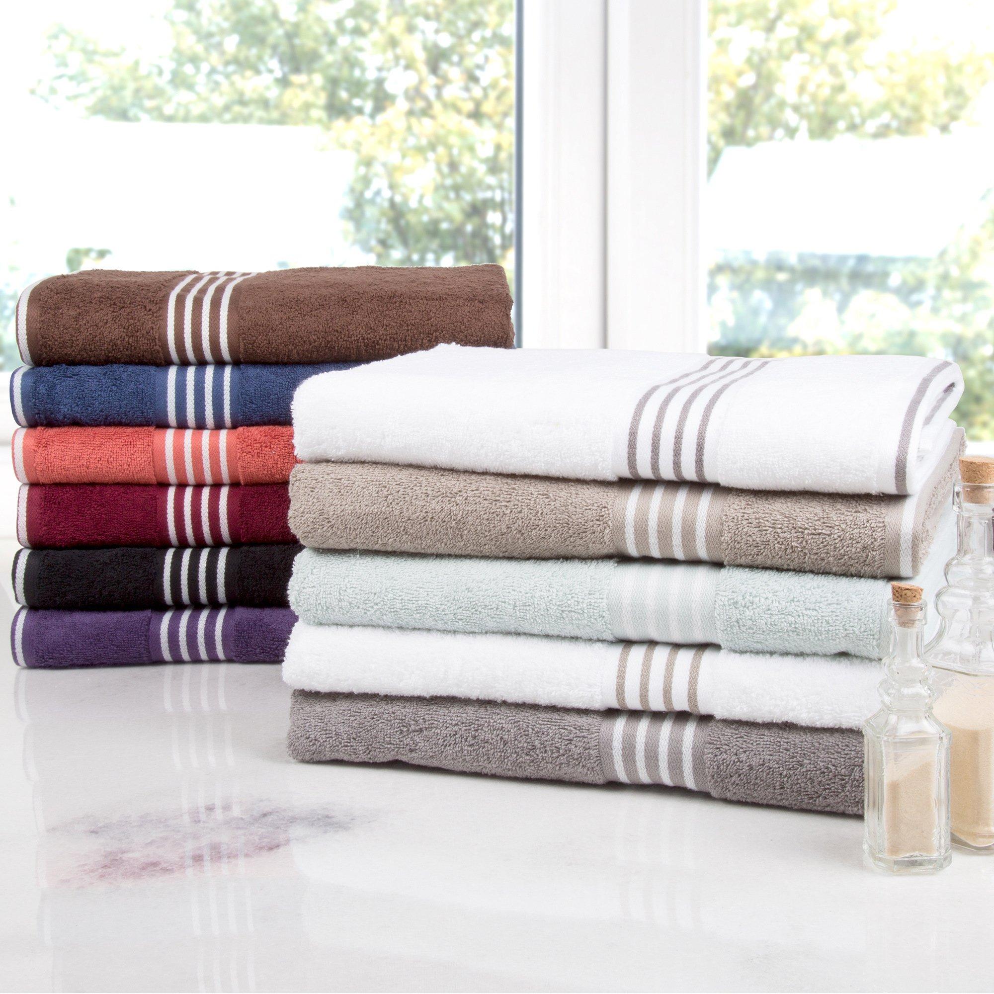 Windsor Home Rio 8 Piece Cotton Towel Set Towel Set Striped