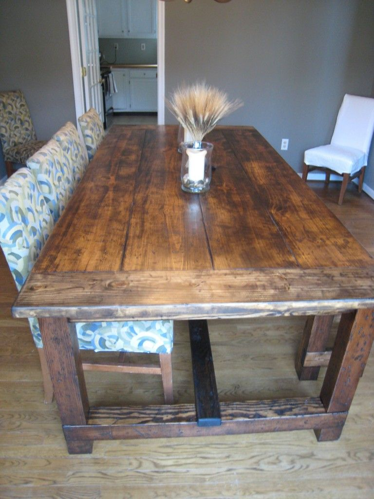 diy friday rustic farmhouse dining table rustic kitchen tables diy farmhouse table on farmhouse kitchen table diy id=95000
