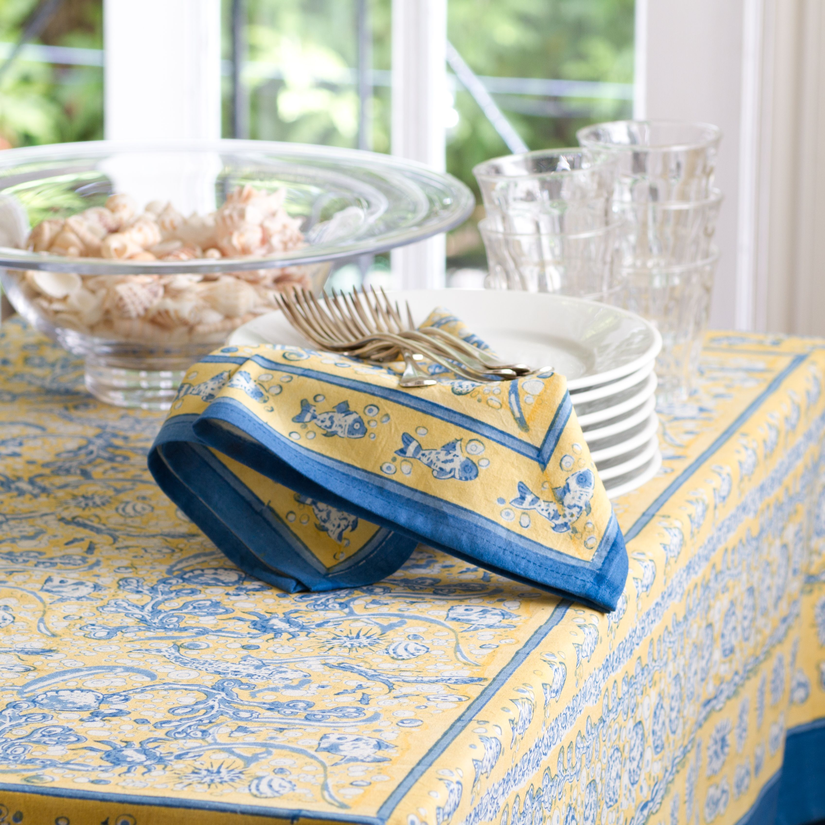 New La Mer Collection Tablecloths Napkins Placemats Runners Aprons Tea Towels French Tablecloths Table Cloth Tea Towels