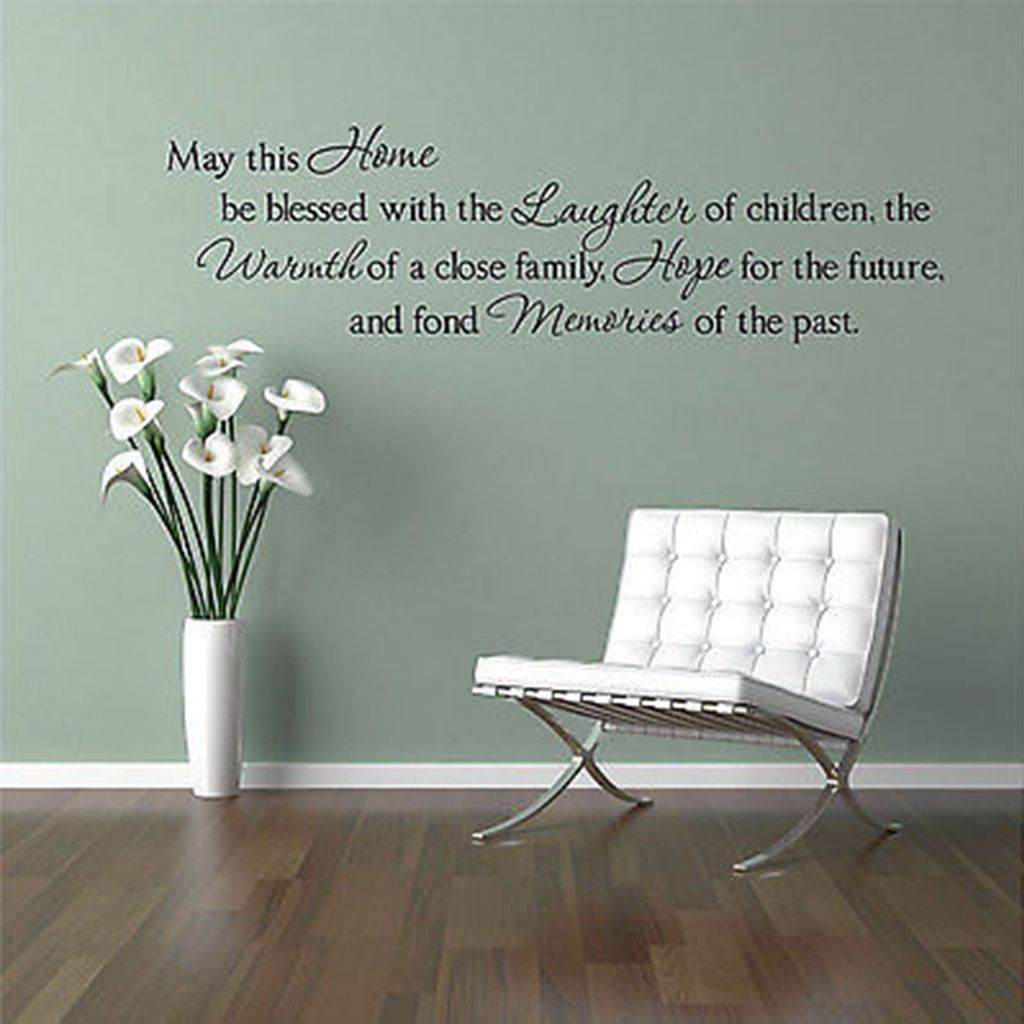 May this home be blessedfamily quote vinyl wall decal sticker family quote vinyl wall decal sticker amipublicfo Choice Image