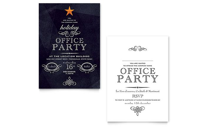 cool Holiday Party Invitations Templates Best Holiday Party