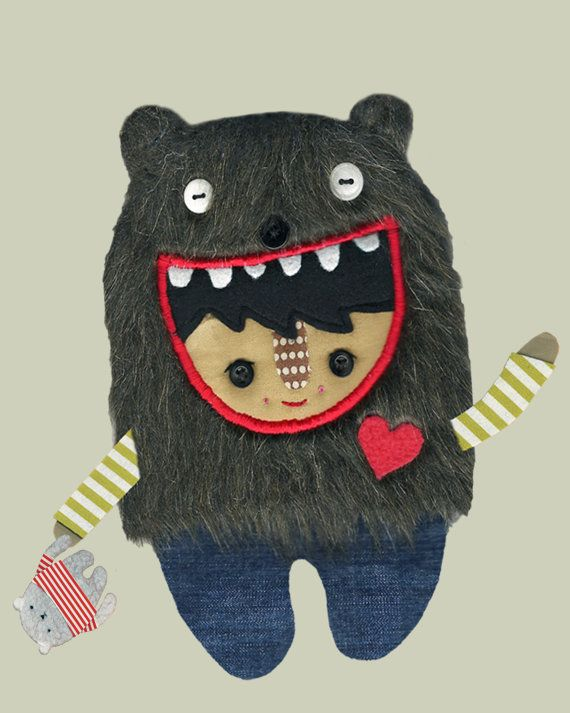 A Bear Boy in Jeans With His Very Good Friend by PinkCheeksStudios, $20.00