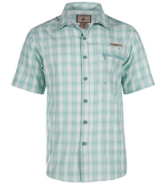 fb7b42e0 Magellan Outdoors Men's Aransas Pass Heather Short Sleeve Fishing Shirt  (Green Medium, Size X Large) - Men's Outdoor Apparel, Men's Fi…