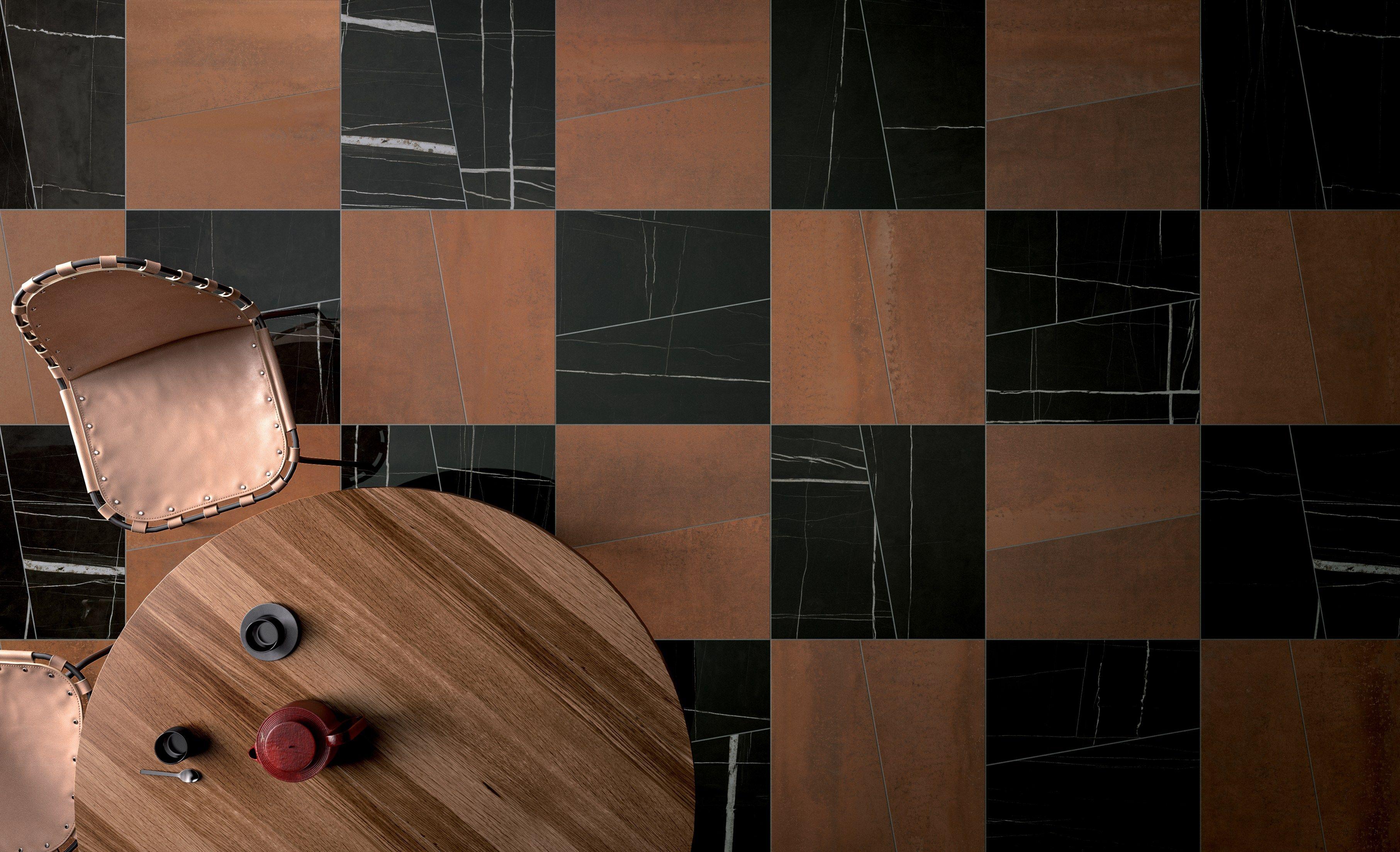 wall/floor tiles match sahara noir glossy by ceramica fondovalle, Wohnzimmer dekoo