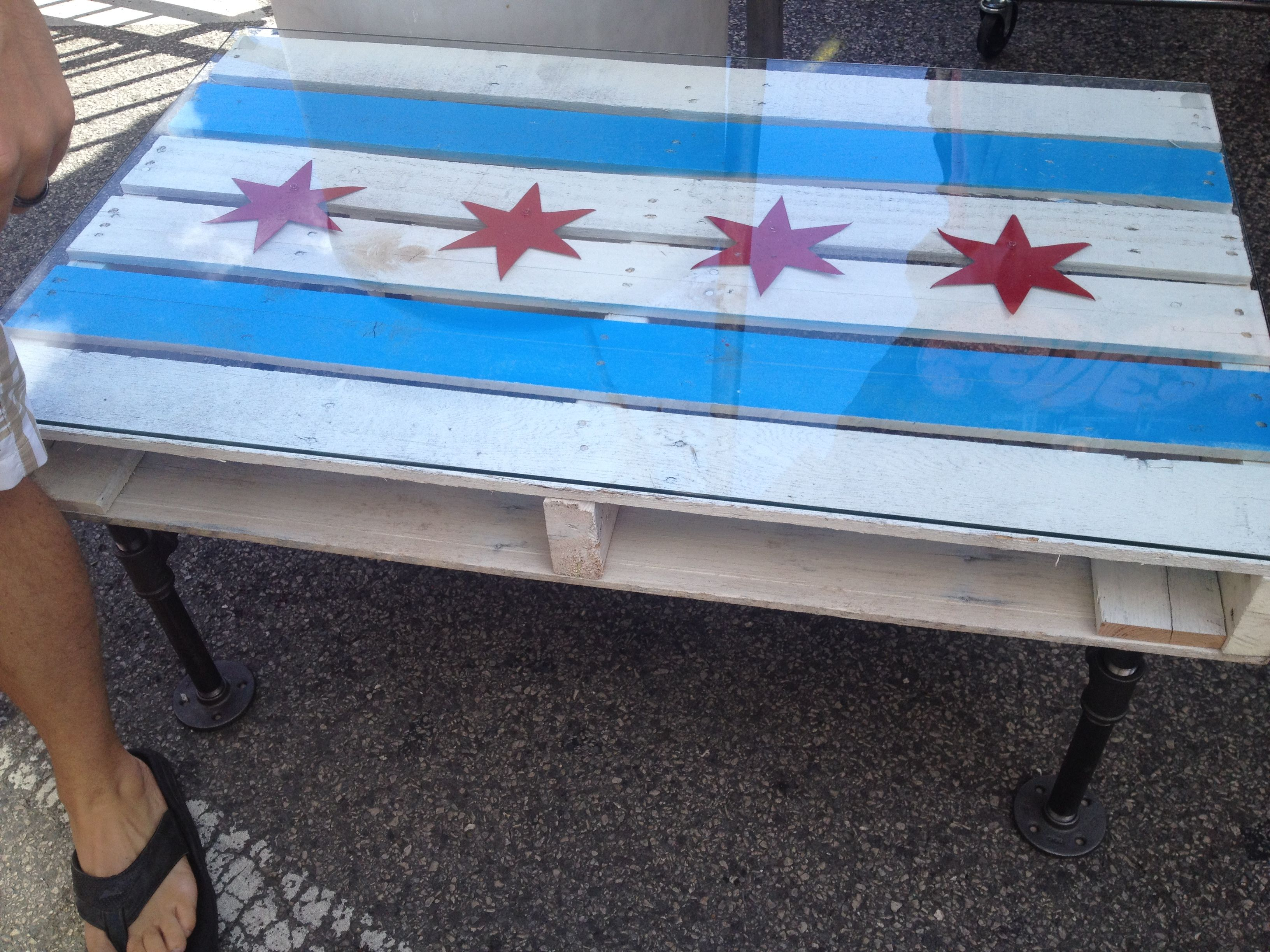 Chicago flag coffee table Outdoor Living Ideas
