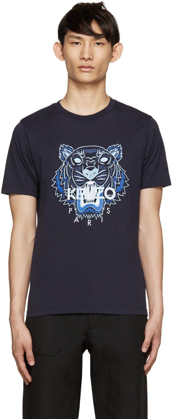 3bc52fd6 KENZO Navy Tiger Logo T-Shirt. #kenzo #cloth #t-shirt | Kenzo Men ...