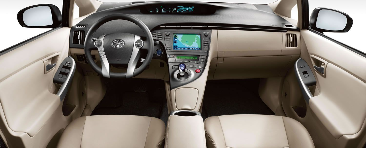 Prius Four Interior Shown In Bisque Softex Trim With Available