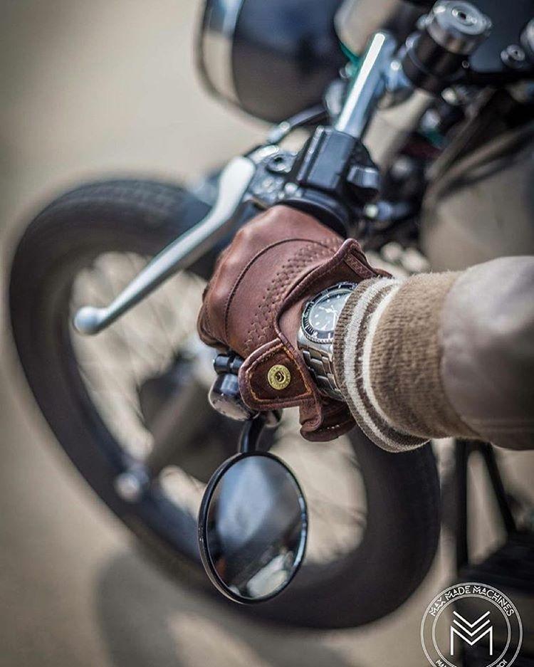 Lights vintage motorcycle