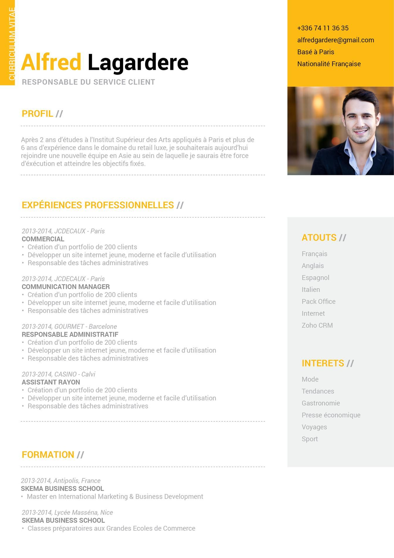 cv responsable de communication xb07