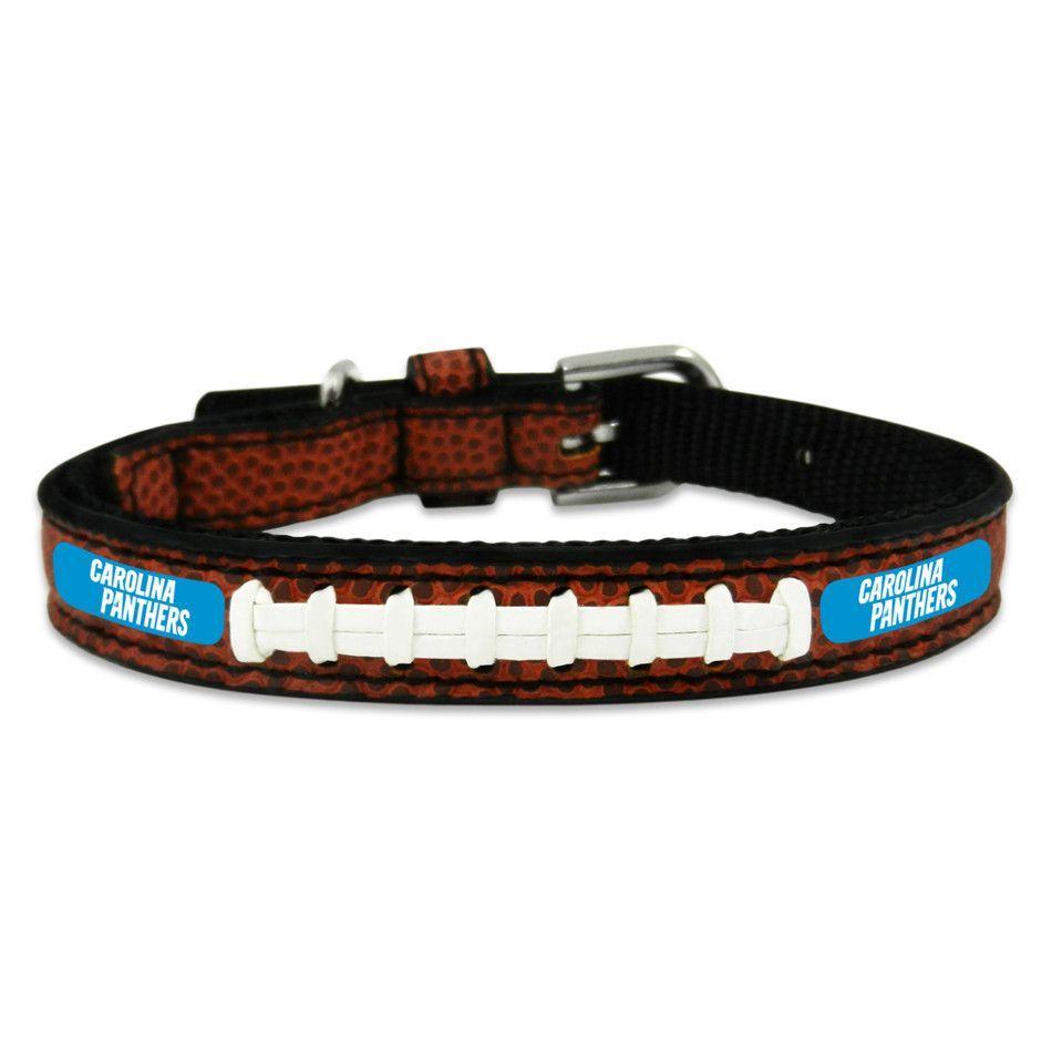Carolina Panthers Football Game Ball Leather Pet Collar