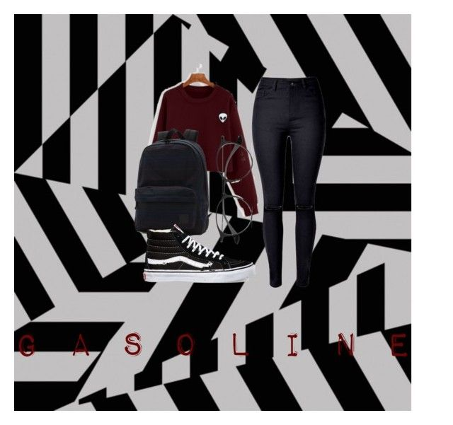 """""""G A S O L I N E"""" by lbarnard23303 on Polyvore featuring WithChic, Vans and Ray-Ban"""