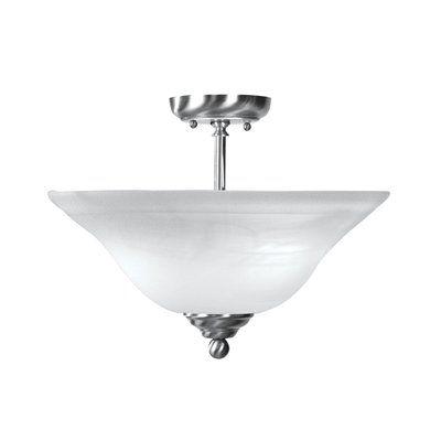 Livex Lighting 4168 2 Light Home Basics Semi Flush Ceiling Light Semi Flush Ceiling Lights