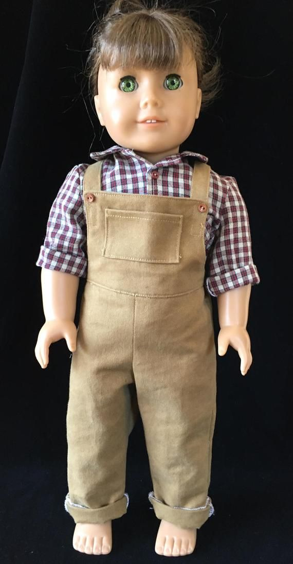 Overalls sewing pattern for 18 doll, Farmer, Doll clothes sewing pattern, coveralls sewing pattern for doll, boy/girl doll clothes pattern #instructionstodollpatterns
