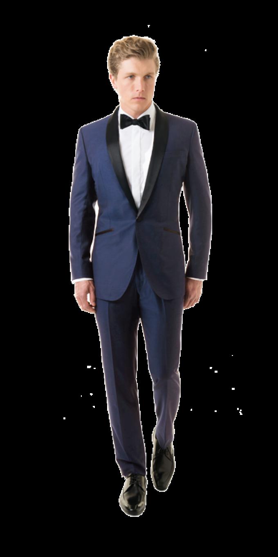 Black lapel solid royal blue shawl tuxedo blacklapel