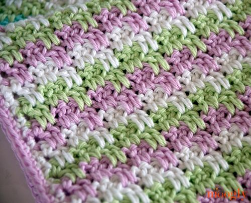 Free Crochet Pattern: Leaping Stripes and Blocks Blanket | Manta ...