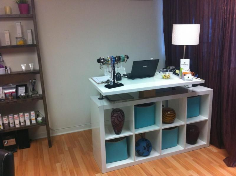 Dyi reception desks google search cr office for Armoire salon