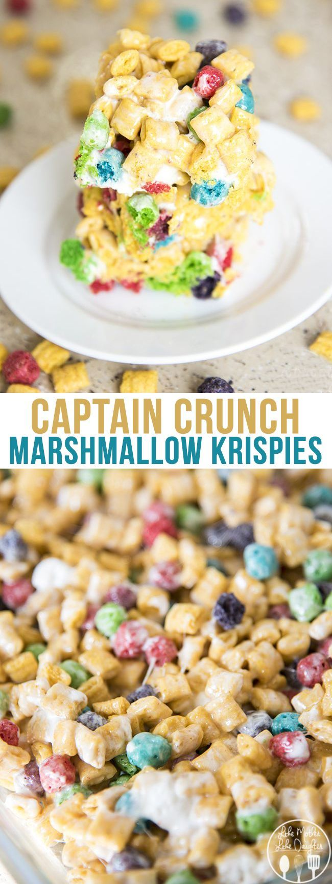 Captain crunch rice krispies are gooey cereal bars made ...