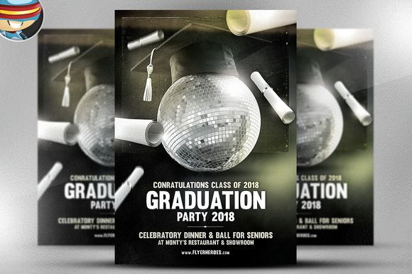Check Out Graduation Flyer Template By Flyerheroes On Creative