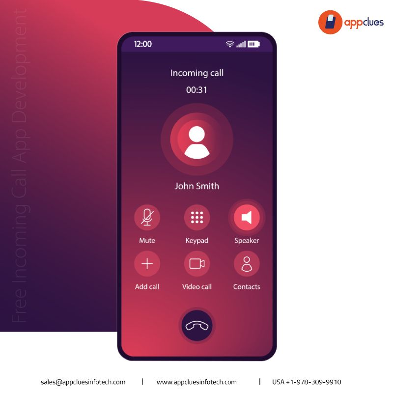 Give the new look to free call app & screen at