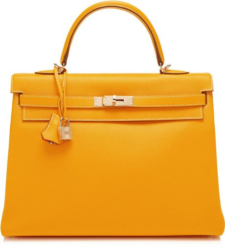 Heritage Auctions Special Collections Yellow Ltd Edition Candy Collection 35cm Jaune Dor Leather Retourne Kelly