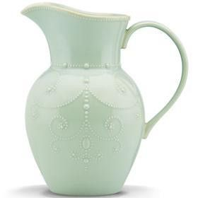French Perle Ice Blue Large Pitcher by Lenox