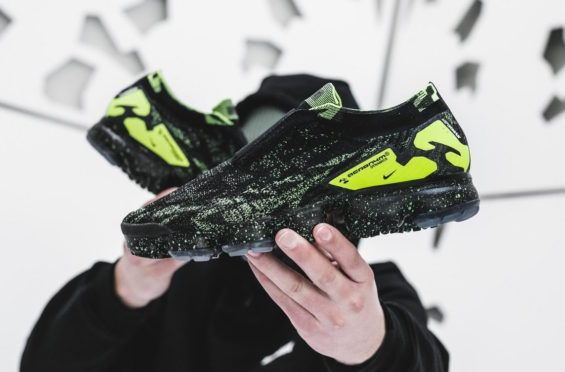 outlet store sale 9664f b56ef ACRONYM x Nike Air VaporMax Moc 2 Black Volt Releasing Next Week The  ACRONYM x Nike