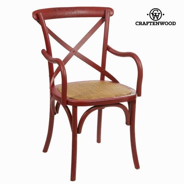 Sedia con braccioli legno rossa by Craftenwood Craftenwood 163,40 ...