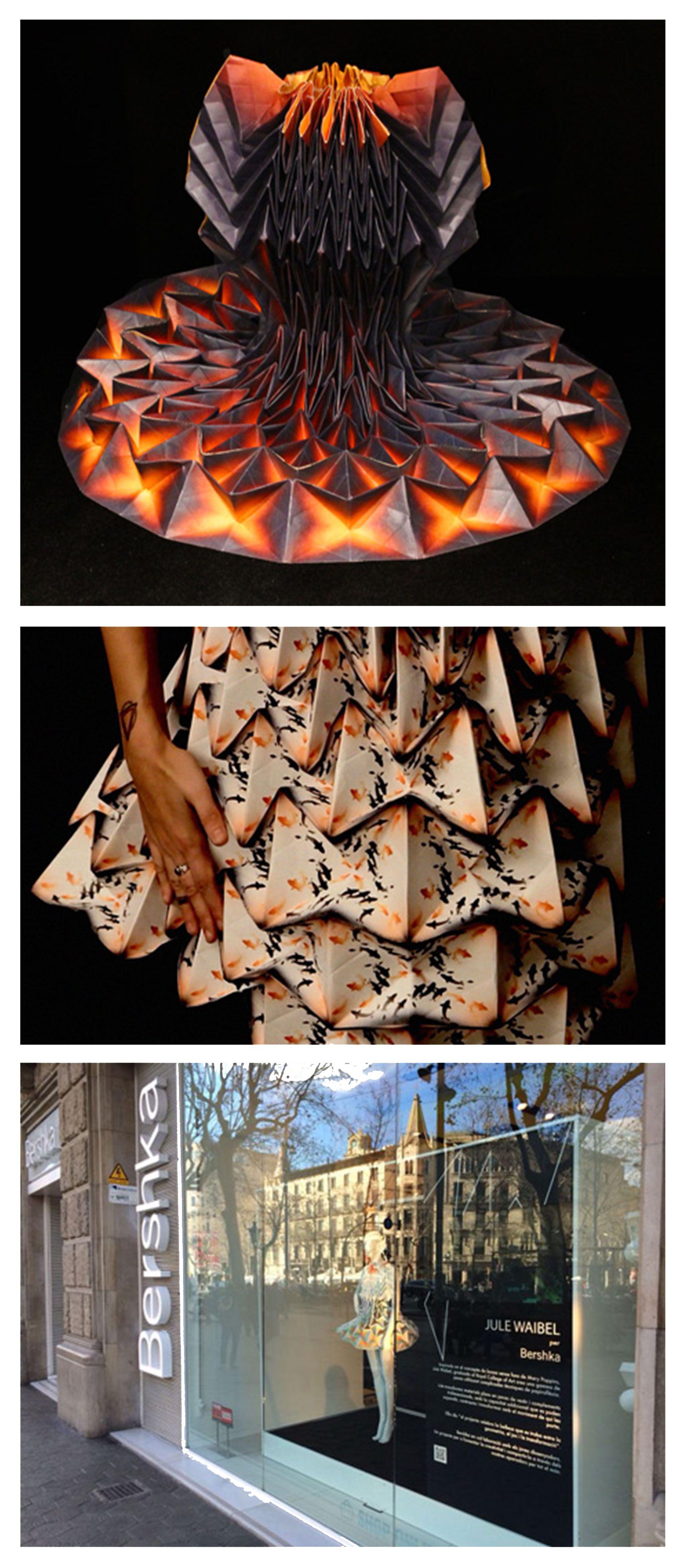 Origami Dresses by Jule Waibel for Bershka.   L'Avant ...