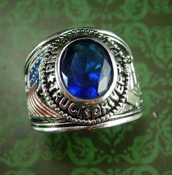 Turc fait main Bijoux Argent Sterling 925 Saphir Femmes Bague Taille 7 8 9