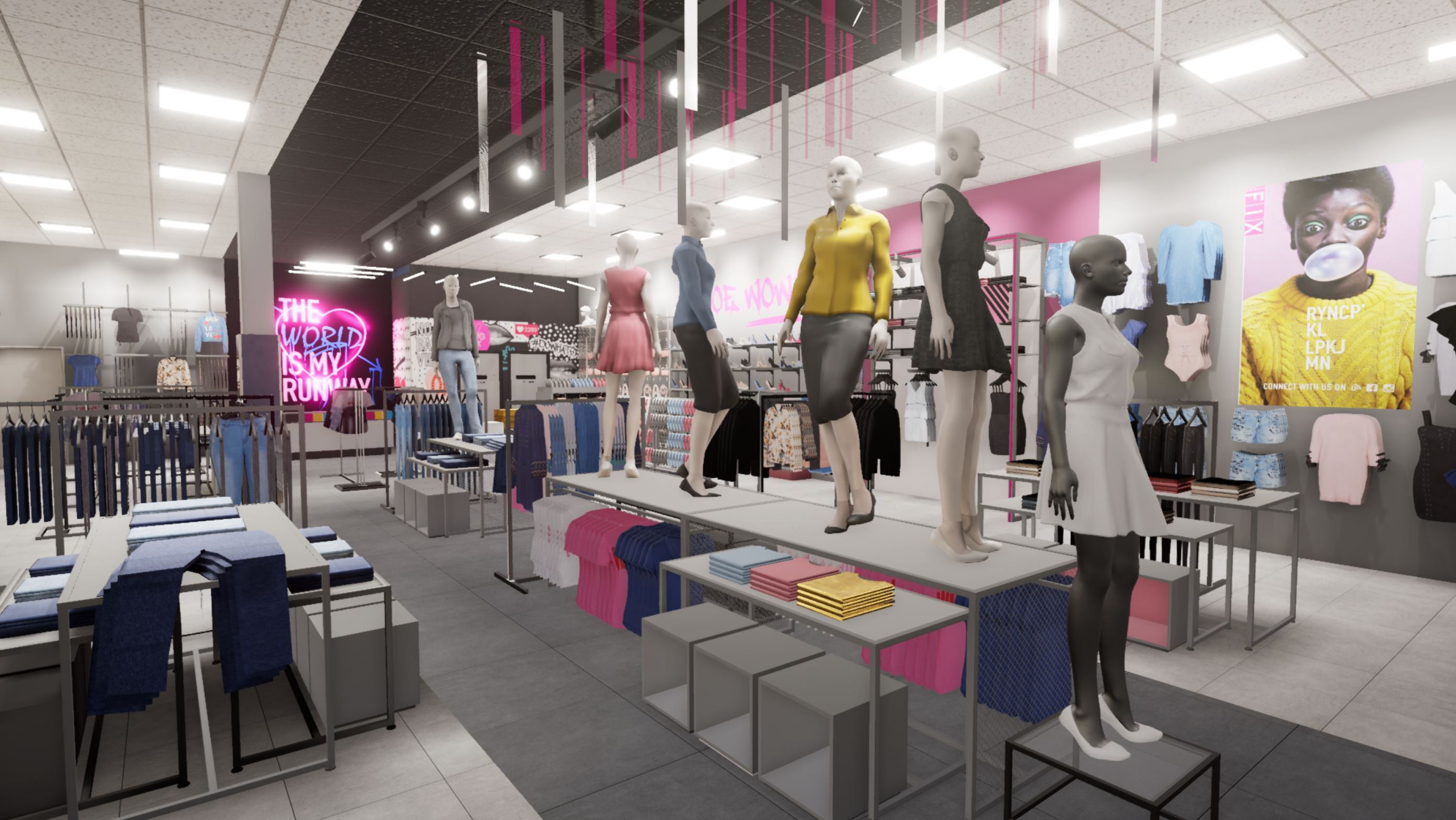 Rendered Space For The Fix Fashion Outlet Conceptual Fashion