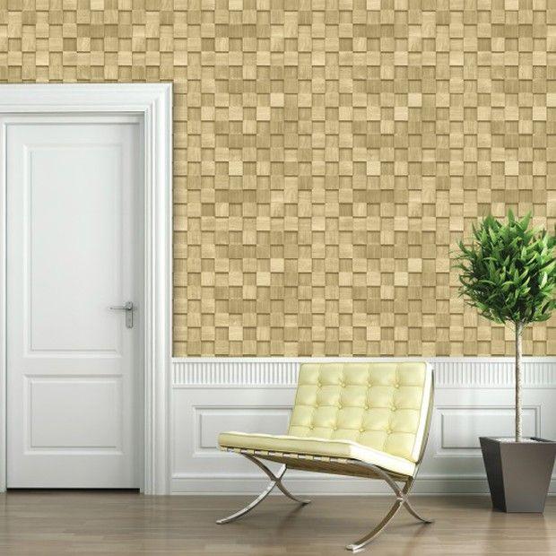Wood Grain Tile Effect Self Stick/Self Adhesive vinyl Wallpaper ...