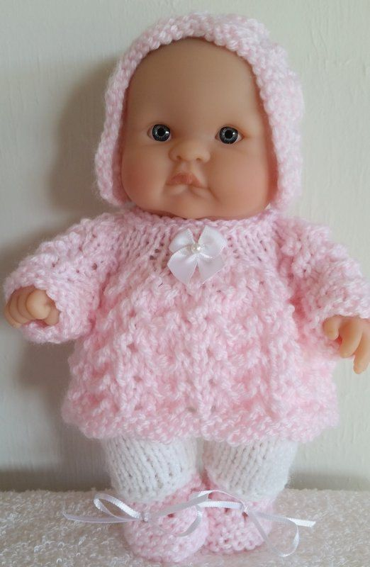 8ce3e4dd8 Berenguer Baby Doll Knit Pattern Angel Top Pram Set for 8 inch lots ...