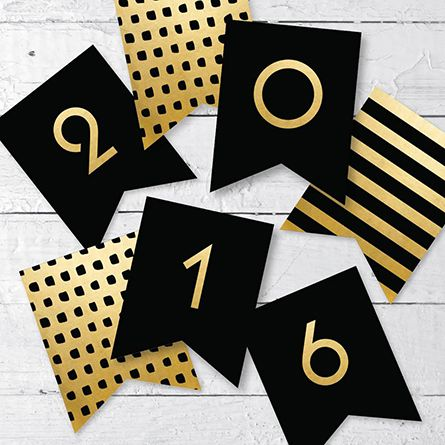 free printable new year banner