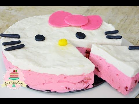 Pay De Hello Kitty Sin Horno Mis Pastelitos Pasteles Pastel De Hello Kitty Pastel De Dulces