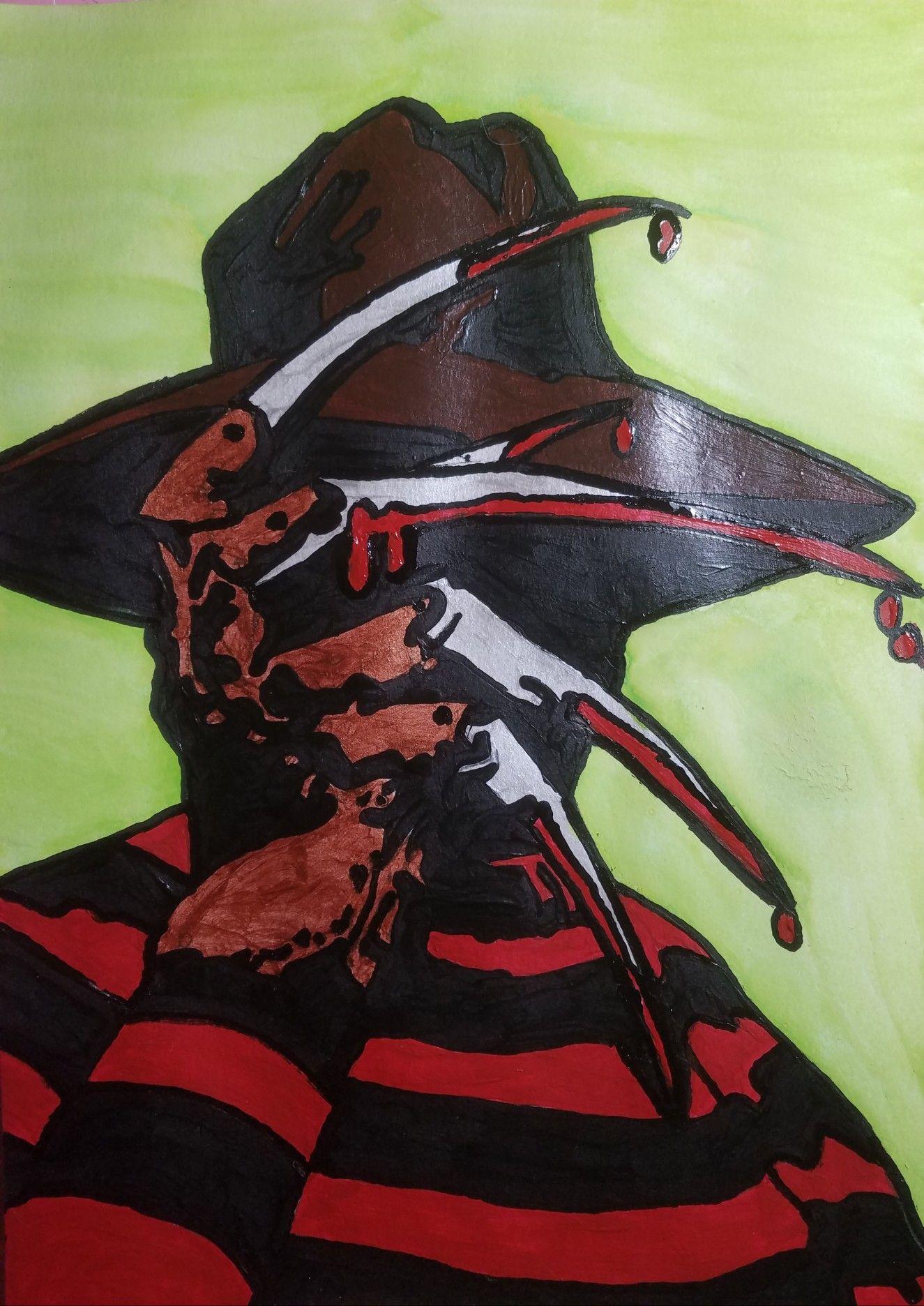 Freddy Krueger Halloween Canvas Art Scary Paintings Freddy Krueger Art