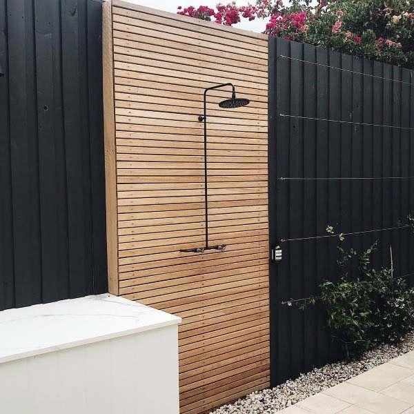 Photo of Top 60 Best Outdoor Shower Ideas – Enclosure Designs