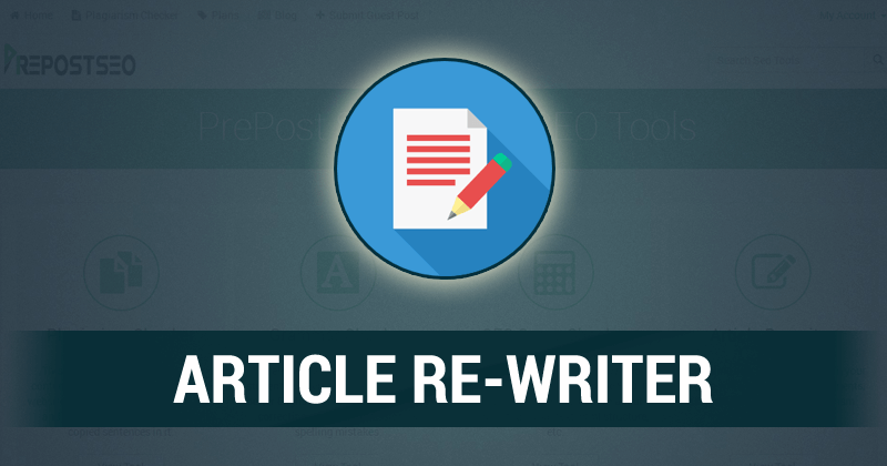 Use our free article rewriter online to spin unlimited