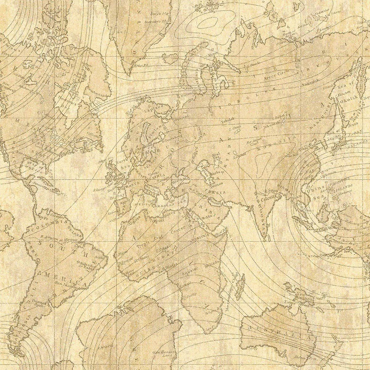 Crown Voyager Feature Wall Wallpaper In Parchment | Wall wallpaper ...