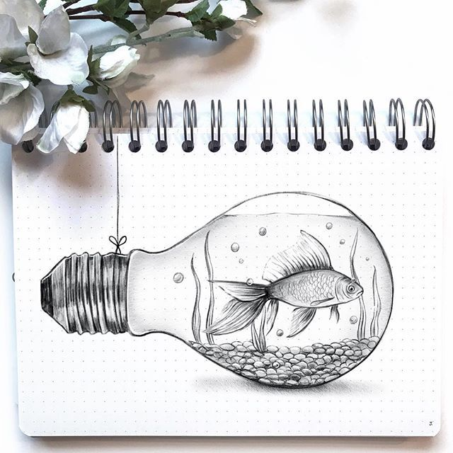 if you can draw a fish inside a light bulb then always draw a fish