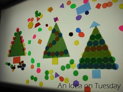 Christmas activity using a light box.