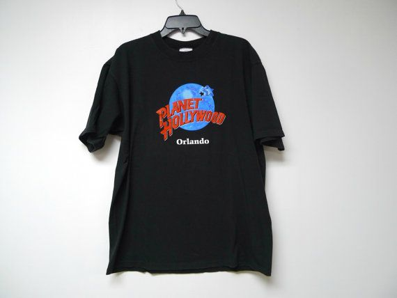 Planet Hollywood Orlando . black graphic tee shirt . by june22
