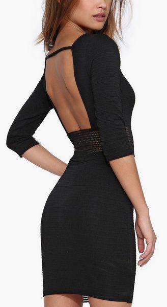 Sheer Genius Little Black Dress