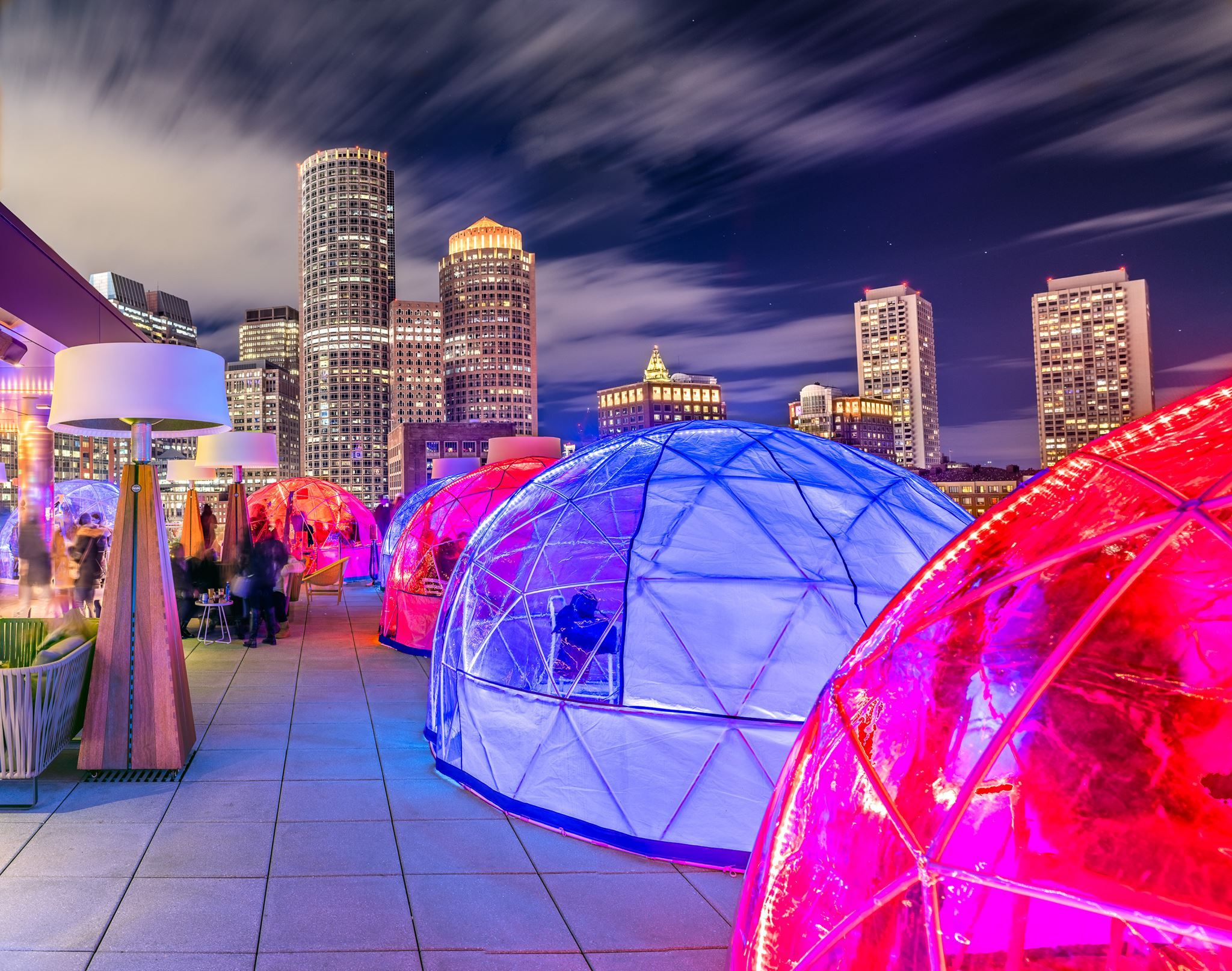 These Glowing Heated Igloos In Massachusetts Are Perfect For