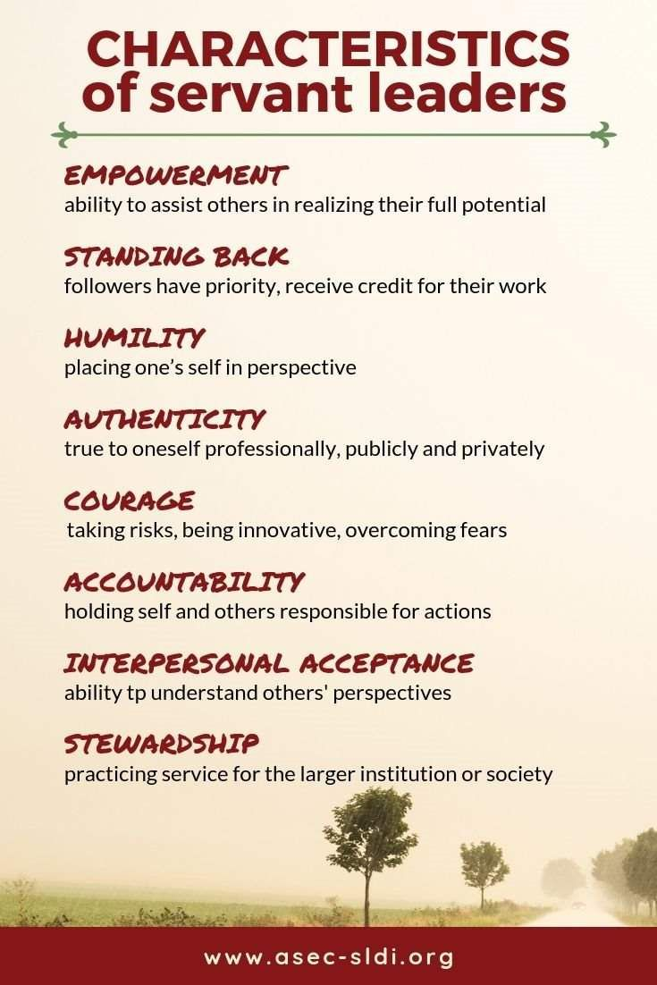 8 Characteristics of Servant Leaders (with examples and quotes) | ASEC-SLDI News