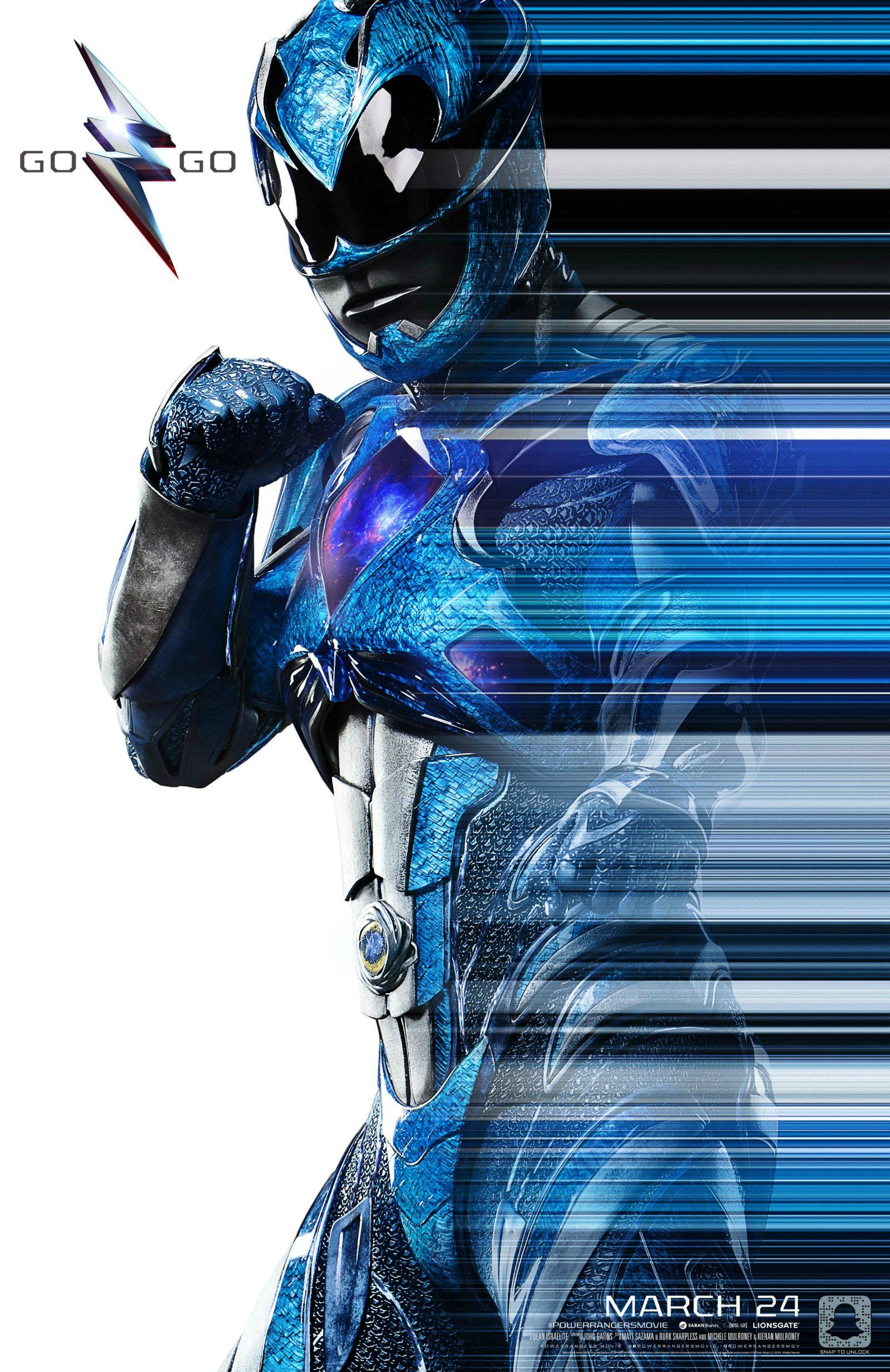 Power Rangers (2016) NYCC Poster - Blue Ranger
